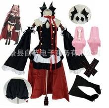 Anime Seraph Van De End Owari Geen Seraph Krul Tepes Uniform Cosplay Kostuum Volledige Set Jurk Outfit