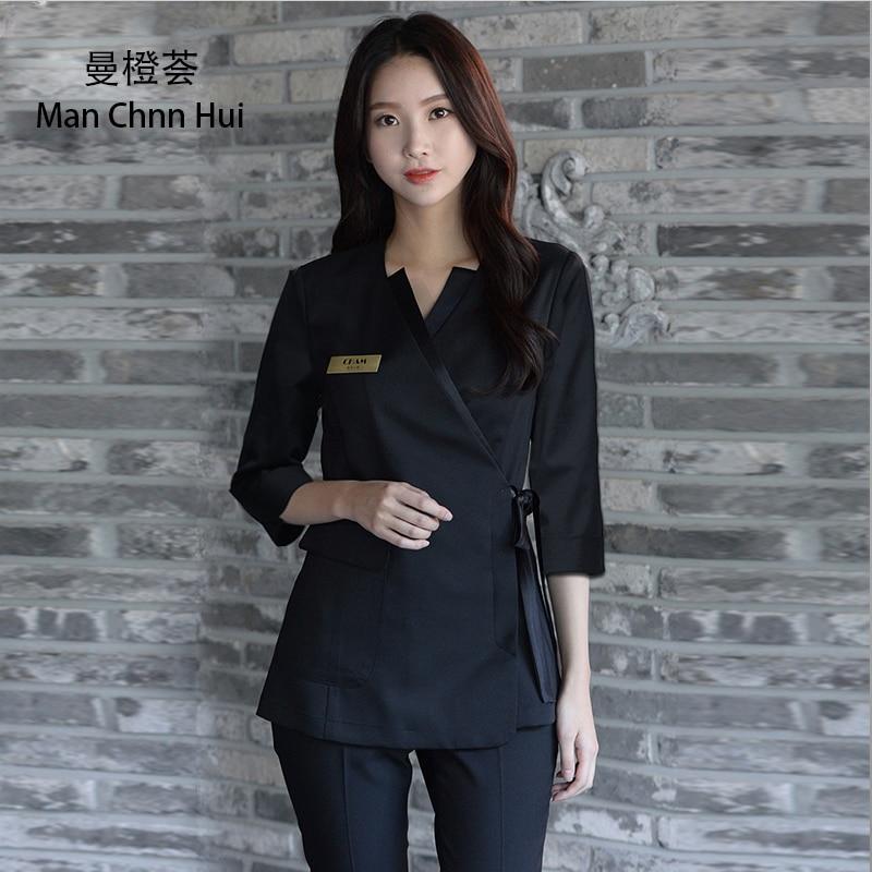 Beauty clothing Korean Style Spa Health Club Beauty Salon Medical Uniform New staff work Wear s