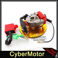 Motorcycle Gold Racing Magneto Stator Rotor Ignition CDI Box For 110cc 125cc 140cc Engine Chinese Lifan YX Pit Dirt Motor Bike