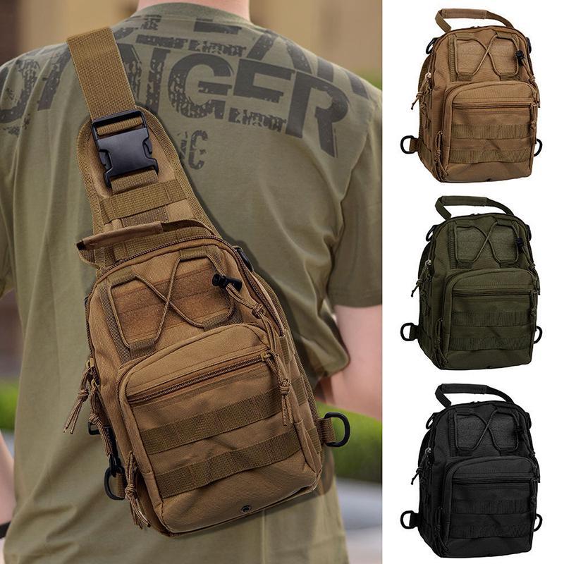 Outdoor Men Chest Bag Tactical Sling Assault Pack Camo Messenger Shoulder Canvas Bag