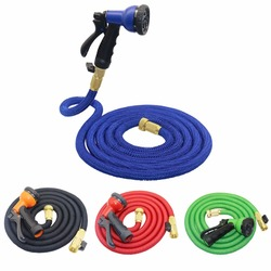 25FT-50FT Expandable Magic Flexible Garden Water Hose with 8 Patterns Spray Gun For Vehicle cleaning and Gardening Watering