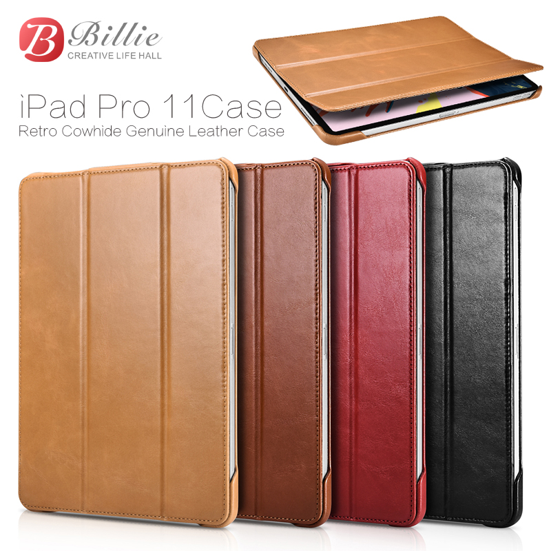 "Smart Magnetic Genuine Leather Case For New iPad Pro 11"" 2018 Slim Business Foldable Stand Smart Cover for Apple iPad Pro 11Case-in Tablets & e-Books Case from Computer & Office    2"