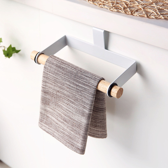 Superieur Free Perforated Shelving Cabinet Doors Roll Holder Kitchen Towel Rack Shelf  Storage Holders