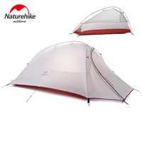 Naturehike New 2 Person Tent 20D Silicone Fabric Tent Double-layer Camping Tent Lightweight Tent Outdoor Sports Winter
