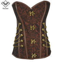 Wechery Corsage Steampunk Corset Sexy Corsets and Bustiers Slim Gothic Women Corselet Corset Steel Bone Plus Size Busiter S 6XL