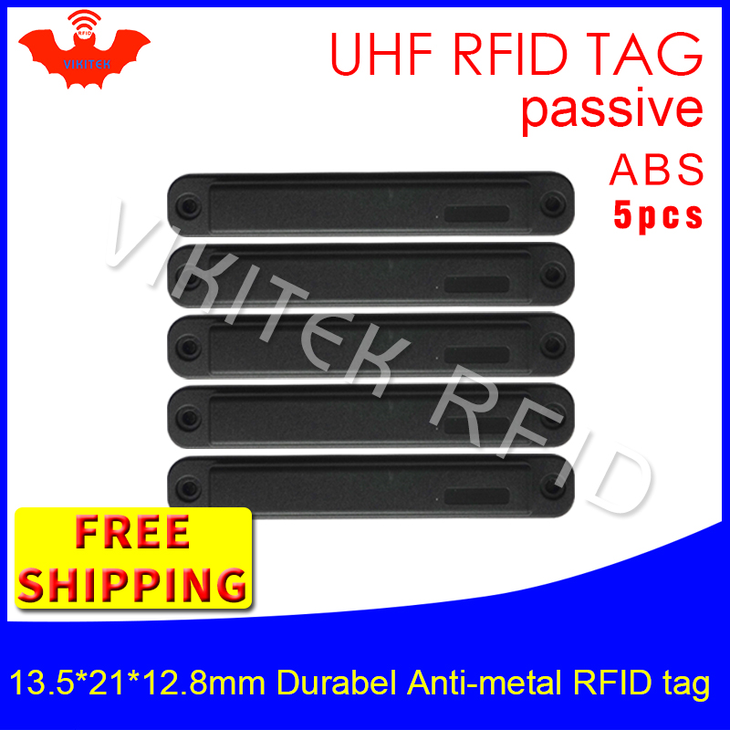 UHF RFID metal tag 915mhz 868mhz EPC H3 13.5*21*12.8mm 5pcs free shipping durable ABS storing cage smart card passive RFID tags uhf rfid anti metal tag 915mhz 868mhz higgs3 epcc1g2 6c 13 5 21 12 8mm durable abs stocking shelves smart card passive rfid tags