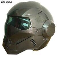 Nuevo tiempo Limitado tricolor lensMasei gris Claro Para mujer para Hombre IRONMAN Iron Man casco medio casco de la motocicleta casco abierto