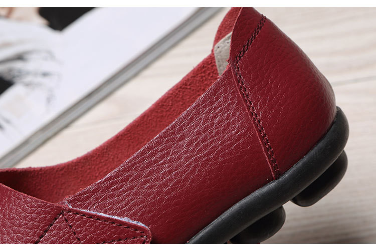 AH 1987-2019 Spring Autumn Women's Shoes Genuine Leather Woman Loafers-12