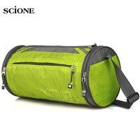 2017 New Professional Cylinder Gym Bag Portable Fitness Training Bag Waterproof Nylon Outdoor Sport Bag XA5WA