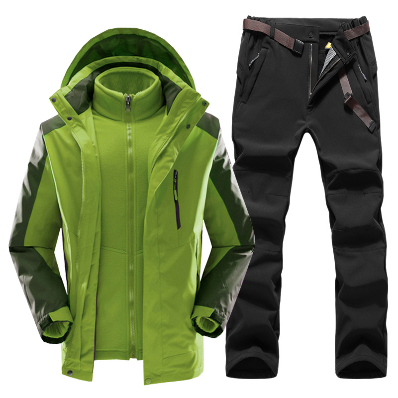 New Winter Outdoor Waterproof Jackets&Pants Runing Hiking Outdoor Suits Multicolor Jackets Fleece Warm Windproof Plus Size Pants