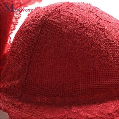 da69ffeaec723 Ms. Maniform bra thin section under thick small chest Lace Collection Furu  super gather adjustment type of sexy underwear-in Bras from Underwear ...