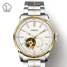 Luxury Brand LOBINNI Watch Men Japan MIYOTA Auto Mechanical Mens Watches Sapphire 50M Waterproof relogio Skeleton Clock L9015-4