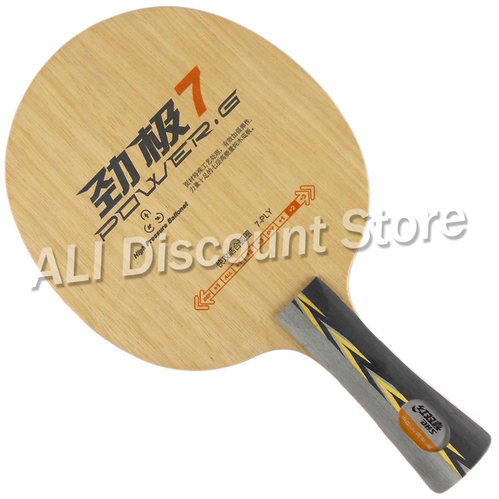 DHS POWER.G7 PG.7 PG7 7-Playwood Attack+Loop OFF+ Table Tennis Blade for PingPong Racket dhs tg7 cp tg cp 7 tg cp 7 attack loop off table tennis blade for pingpong racket