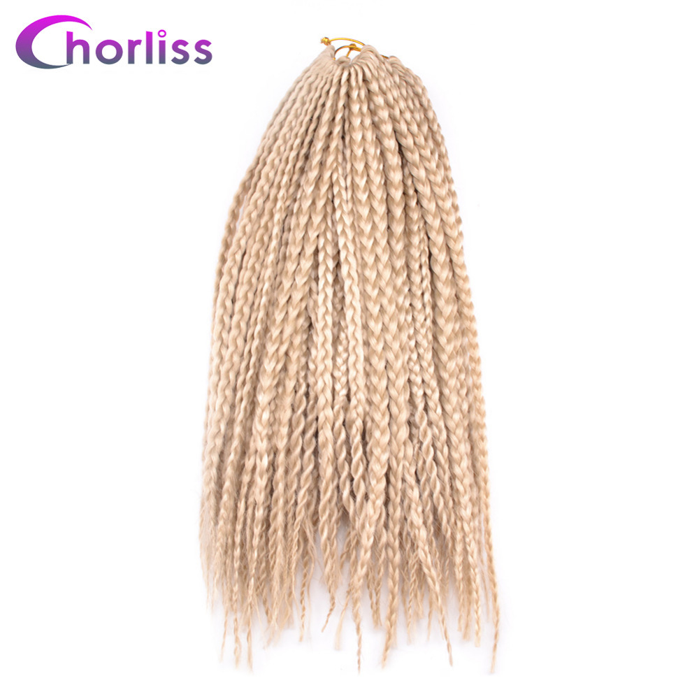 Chorliss 14 Box Braid Synthetic Hair Extension 22roots pc Crochet Twist Braiding Hair Extension 6Colors Black