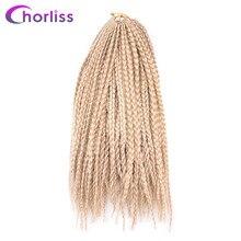 """Chorliss 14 """"поле косу Синтетические волосы расширение 22 корни/PC крючком Твист плетение Наращивание волос 6 Цвета чёрный; коричневый светлые 5 шт."""