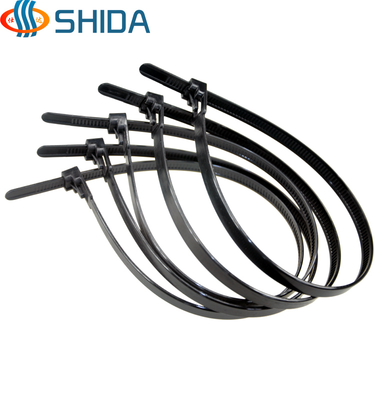 100pcs 3.6*150mm Releasable Plastic Nylon Zip Ties, Black and White ...