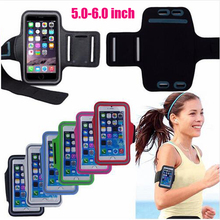Case For iphone 6 Plus Cover Sport Arm Band Pouch Case For Apple iphone 6S Plus Bag Running Gym Phone 5.0-6.0 inch