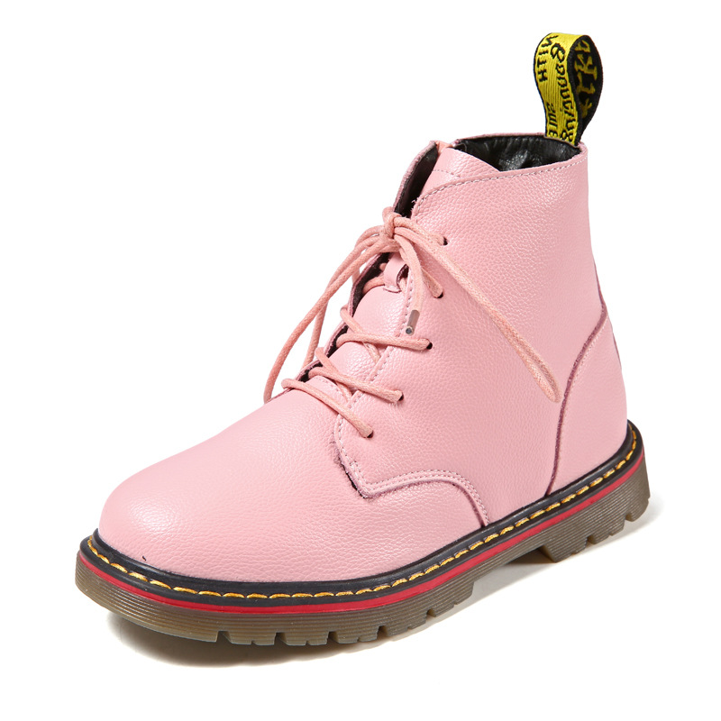 Winter Children's Shoes Girls Boots for Girls Ankle Cotton Fabric Fashion Martin Classic Boots Zip Kids boots Genuine Leather 2016 winter children genuine leather boots brand boys cotton buckle shoes fashion ankle martin boots for kids