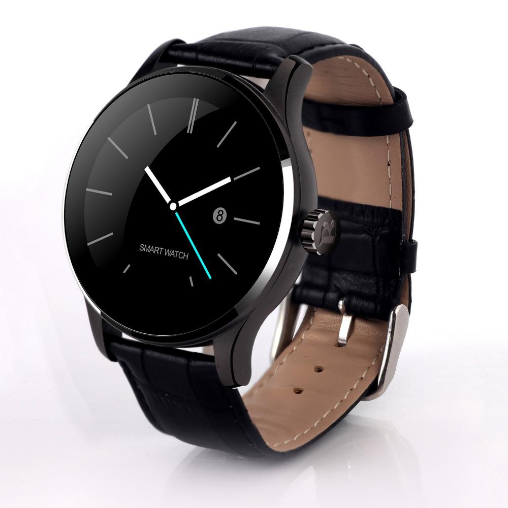 Prix pour Nouveau Cycle Bluetooth Smartwatch K88H Horloge Metal Energie Smart Watch avec Moniteur de Fréquence Cardiaque pour iphone IOS Android Smart Phone