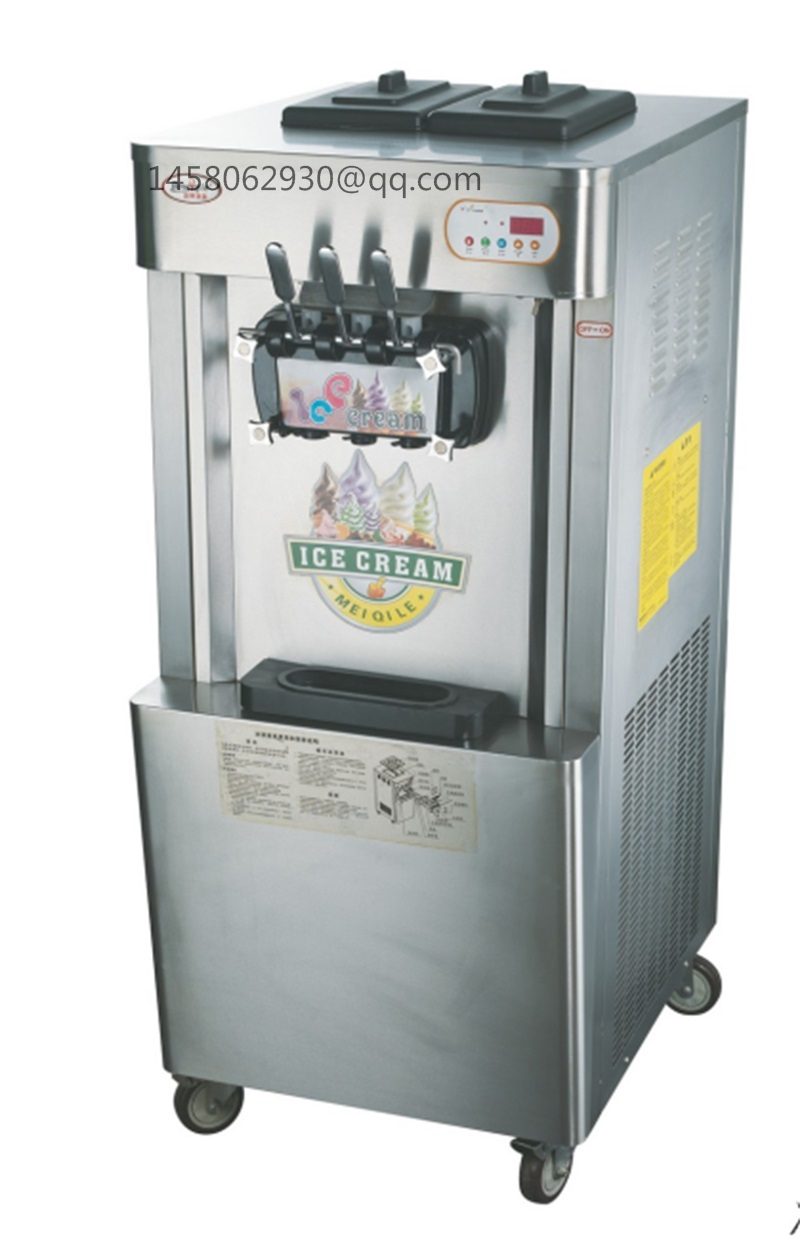 China wholesale factory price 52L 2+1mixed flavours mobile soft ice cream machine with CE approved