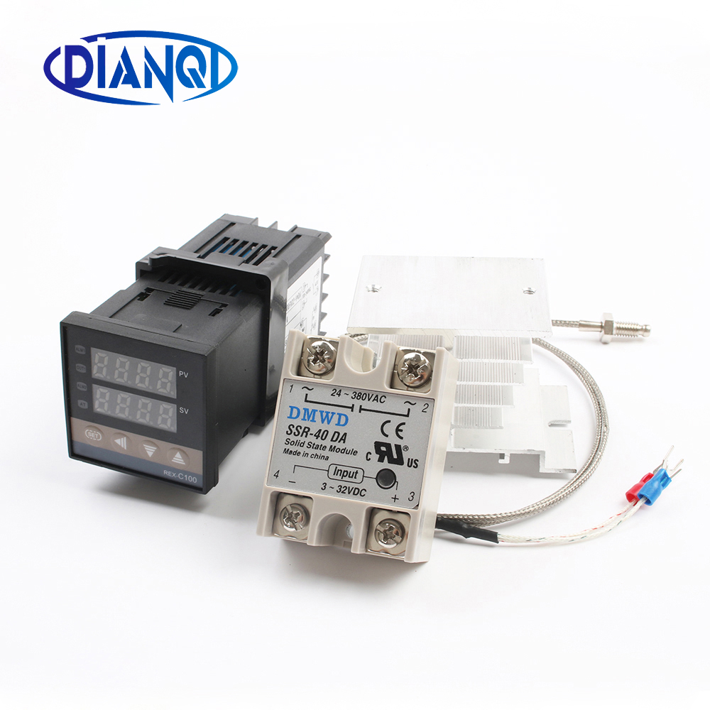 medium resolution of digital pid temperature controller rex c100 rex c100 thermostat 40da ssr relay k thermocouple