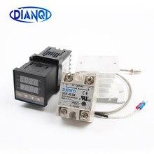 Contrôleur de température numérique PID 110V ~ 240V, thermostat REX C100, relais SSR 40DA, Thermocouple K, sonde RKC 1m