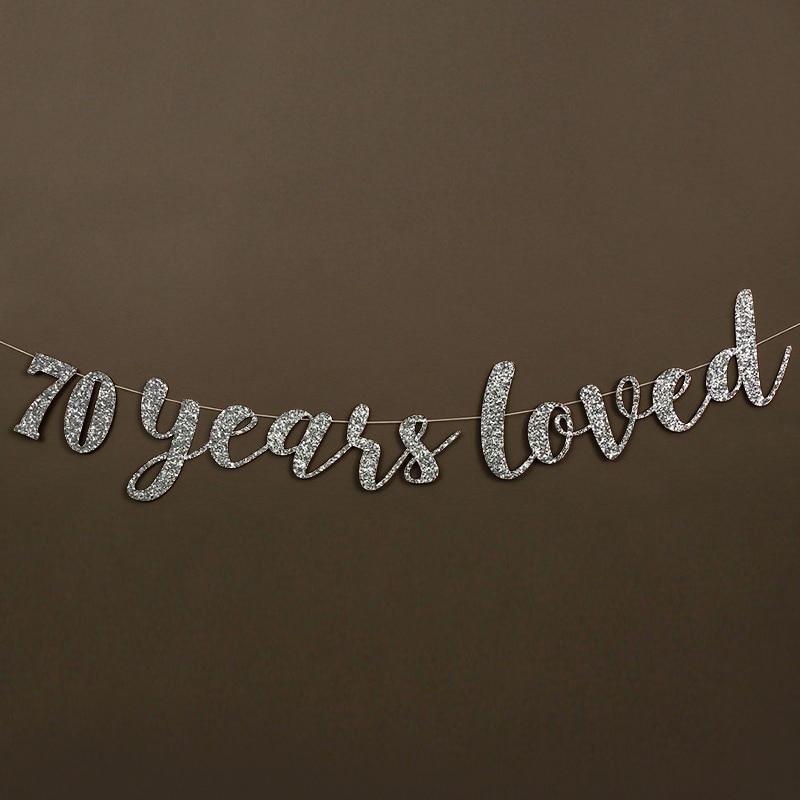 70 años adoró Glitter Banner 70.a Fiesta de cumpleaños - Para fiestas y celebraciones - foto 5