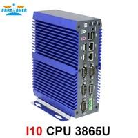 Высокое качество Мини безвентиляторный ПК компьютер Intel 3865U dual core 2 порта lan DDR4 mini pc Embedded sim слот поддержка wi Fi/3g/4 г