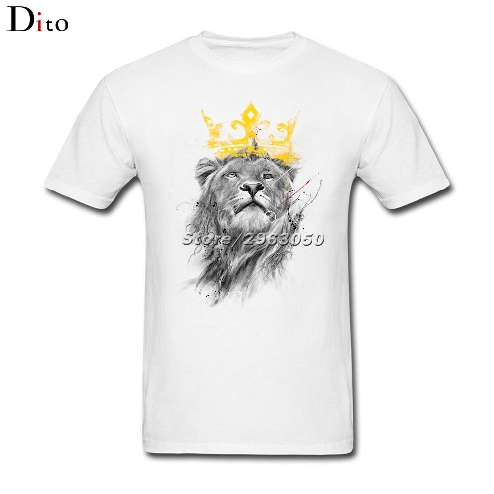 Король Лев футболка Для мужчин мужской Best предложения короткий рукав День Благодарения Пользовательские большой Размеры группы футболки