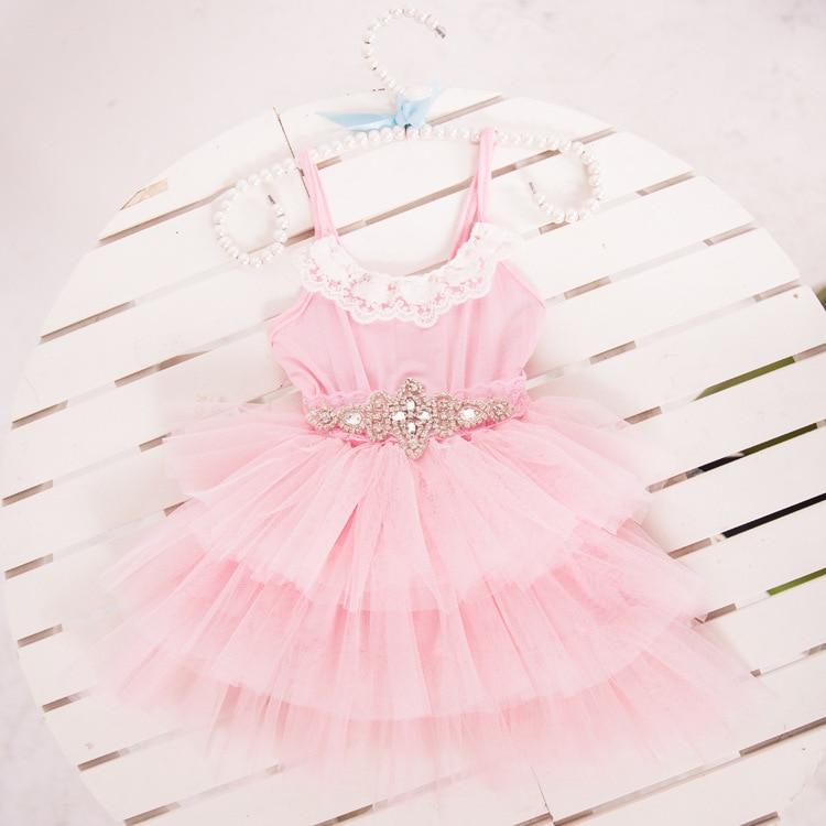 Envío gratis princesa del cordón del verano vestido de boda con correa cristalin