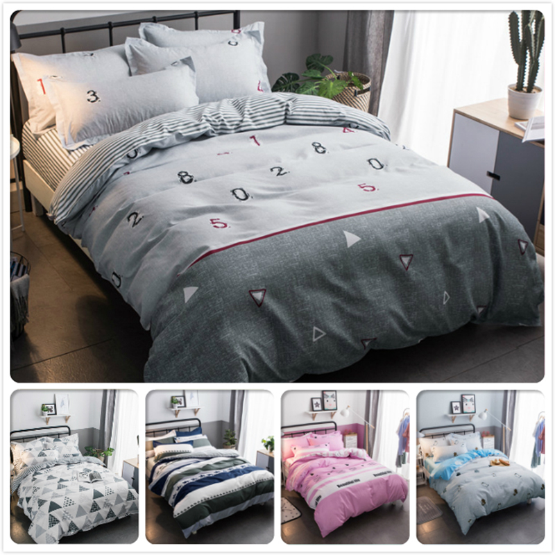 2018 New Concise 3/4 pcs Bedding Set Child Soft Cotton Bed Linen Single Twin Queen King Size Duvet Cover 200x230 180x220 220x240