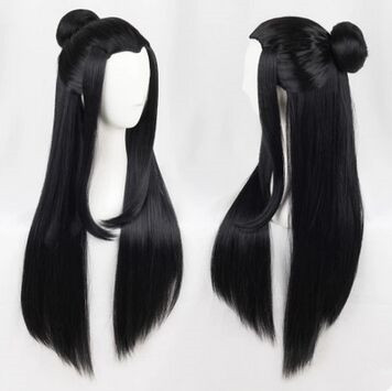 Humor Ancient Chinese Style Hair Ancient Chinese Long Black Ancient Dynasty Hair For Adults Chinese Ancient Warrior Cosplay Men's Costumes