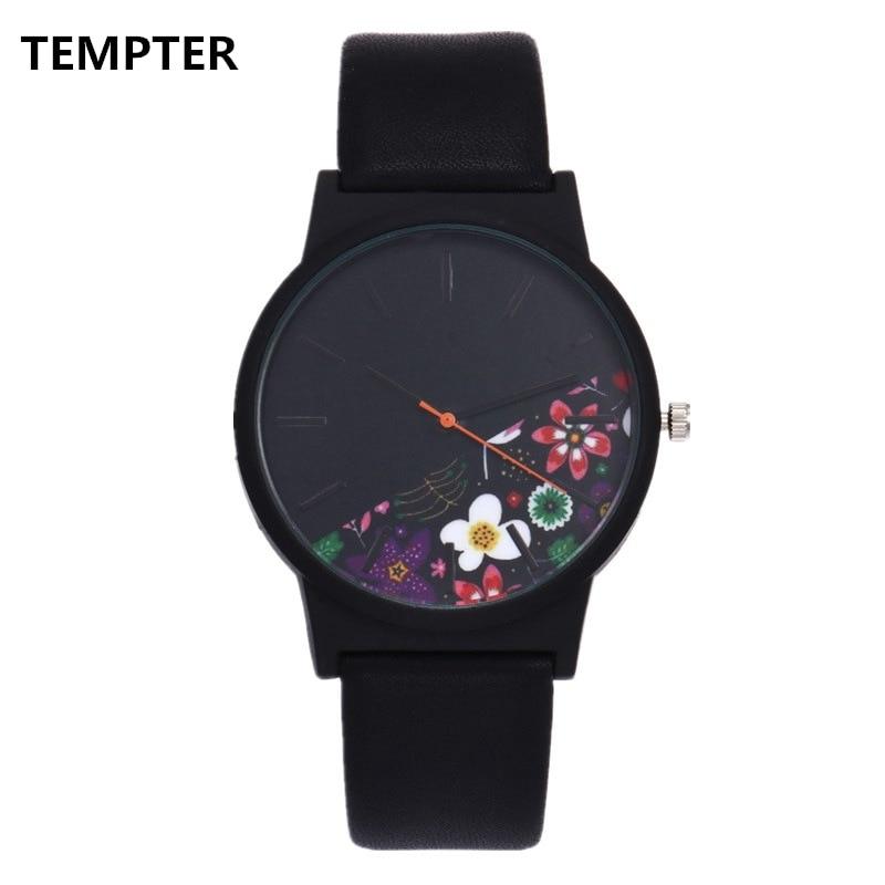 Black Flower Watch Women