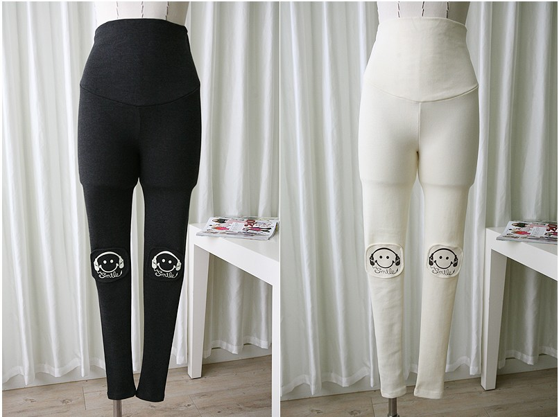 2019 Maternity Clothes Belly Leggings Spring Autumn Trousers for Pregnant Women Cartoon Slim Elastic Pregnancy Pants SH S026 in Leggings from Mother Kids