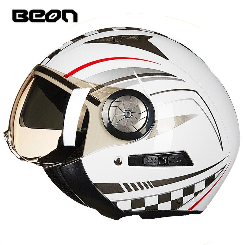 BEON Motorcycle Helmet Retro Harley Helmet Motorbike capacete motocross casque moto vintage B-216