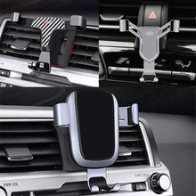 Phone Holder For Toyota C-HR 2017 2018 Car Air Vent Mobile Phone Cellphone Holder Stand Mount Cradle Clip For CHR 2017 2018 2019 недорого