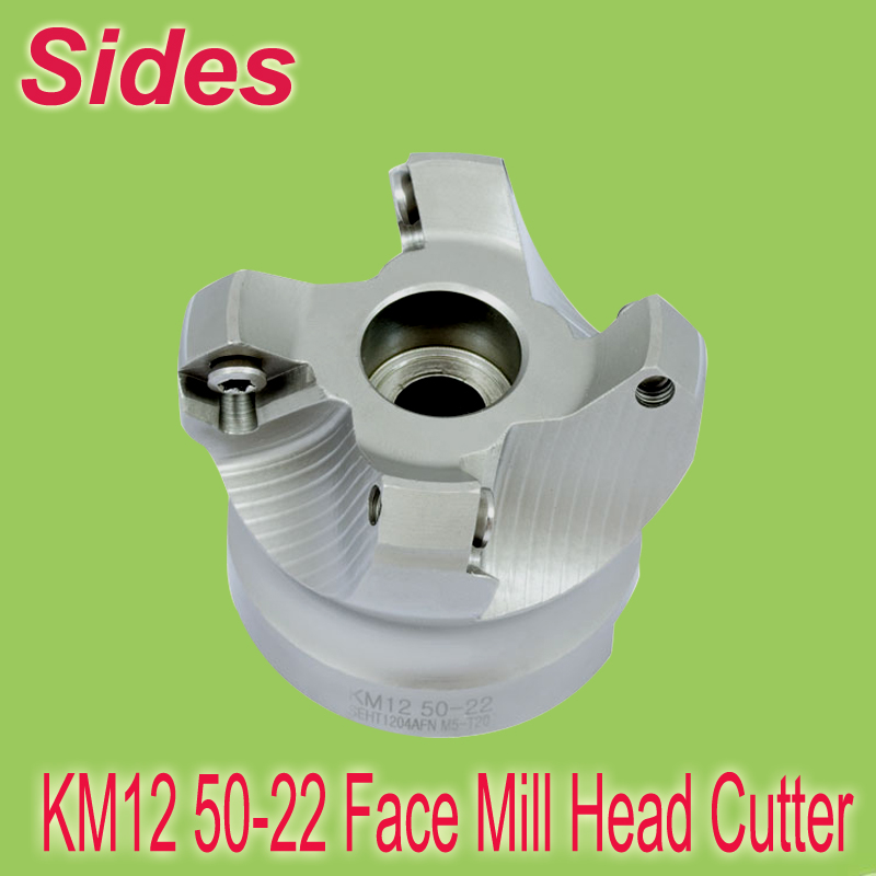 Free Shiping Two Colors KM12 50-22-4T 45 Degree Shoulder Mill  Cutter Head for SEHT1204