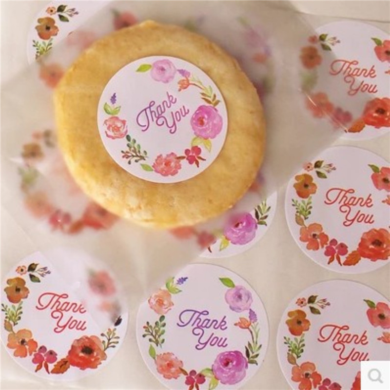 DIY <font><b>120Pcs</b></font>/lot Rose Flower <font><b>Sticker</b></font> Classical Toy Hand Made Cookie Cake Creative Paper Christmas Wedding Party <font><b>Sticker</b></font> image
