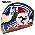 High quality brand BEON Motorcycle helmet Classic full face helmet Kart Racing Helmet motociclistas capacete ECE Approved