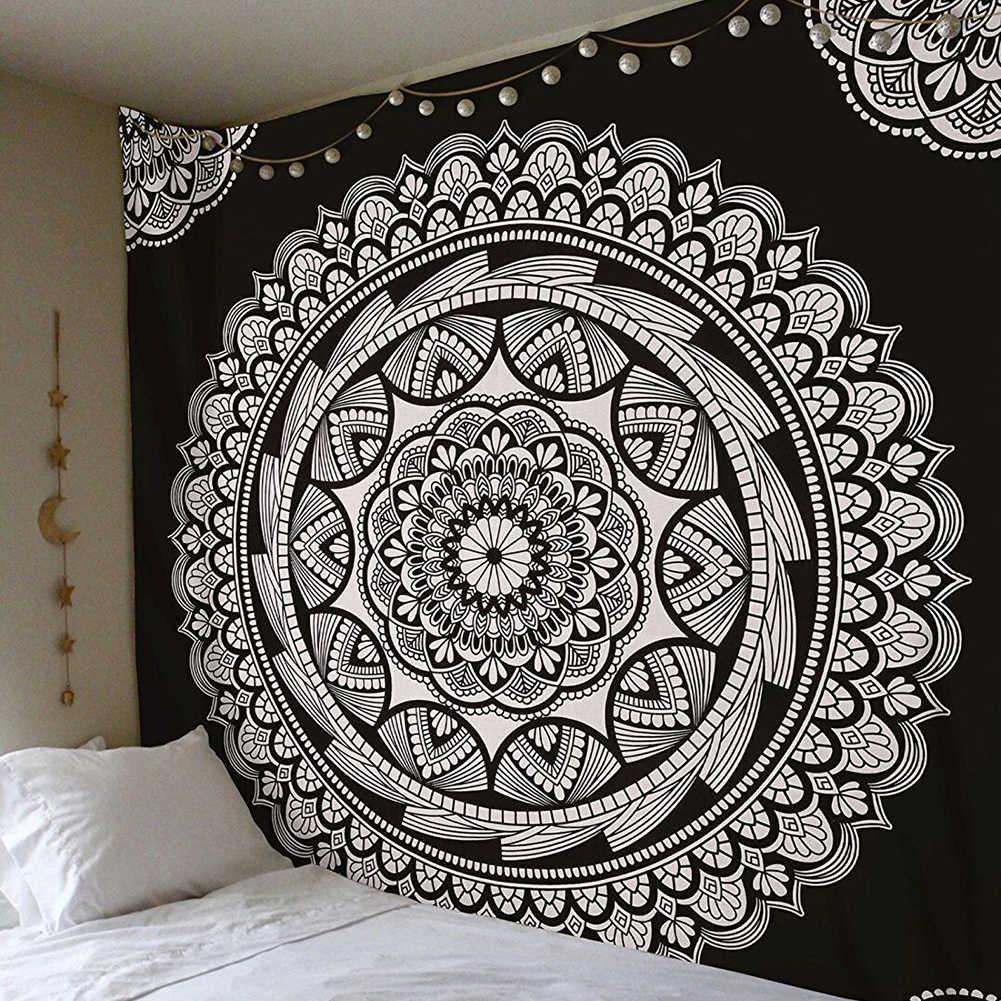 Mandala India Wallpaper Permadani Dinding Bohemian Pantai Matte Polyester Langit-langit Yoga Mat Rumah Kamar Tidur 180X230 Cm