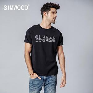 Image 1 - Simwood 2020 verão t shirt men metro mapa imprimir moda tshirt casual manga curta 100% algodão mais tamanho topos 190162