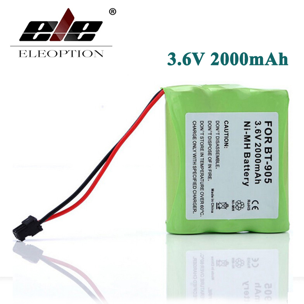 ELEOPTION 3.6V 2000mAh Ni-MH Cordless Phone Battery for Panasonic KX-A36 P-P501 HHR P-P501 P-P504 For Uniden BT-905