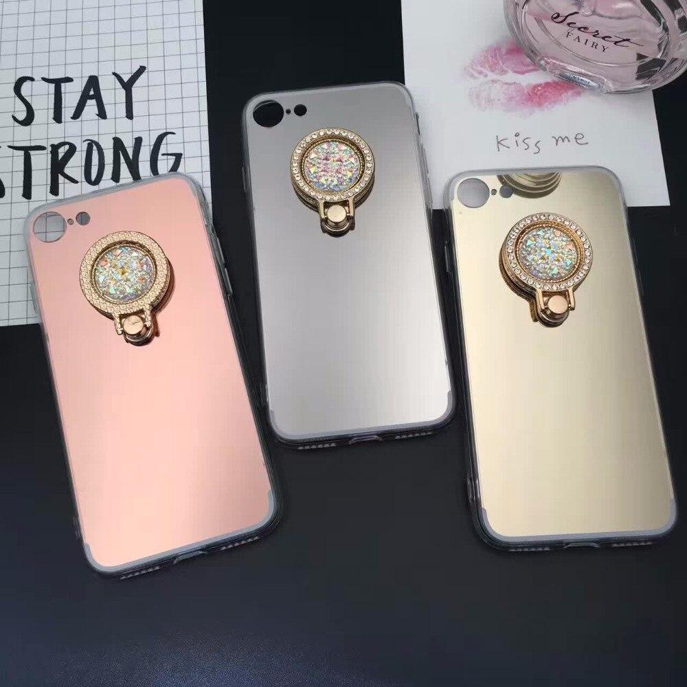 Bling Finger Ring Holder Grip Phone Cases For Samsung