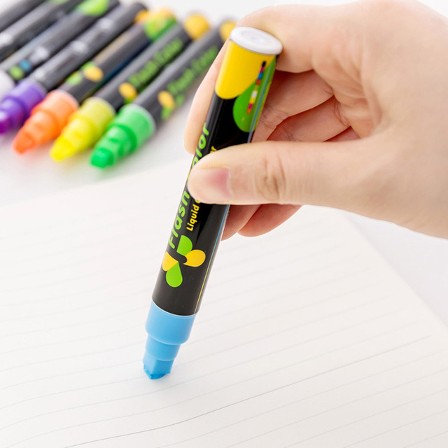 Glowing Fluorescent Neon Color Highlighter Marker