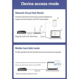 "Image 5 - Airdisk Q3X Mobil ağ sabit disk USB3.0 NAS Aile Ağı Bulut Depolama 3.5 ""Uzaktan Mobil sabit disk Kutusu (HDD)"