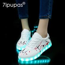 ¡Novedad de 2018! Zapatillas luminosas krasovki iluminadas por USB, zapatos brillantes para niños, zapatillas con suela led iluminadas para niños y niñas