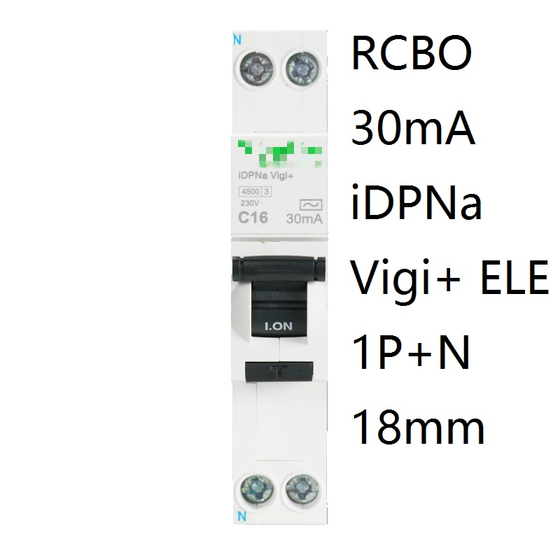 iDPNa Vigi+ DPNL Acti 9 RCBO 6A 32A 25A 20A 16A 10A 18mm 230V 30MA Residual current Circuit breaker Leakage protection MCB idpna vigi dpnl rcbo 6a 32a 25a 20a 16a 10a 18mm 230v 30ma residual current circuit breaker leakage protection mcb a9d91620