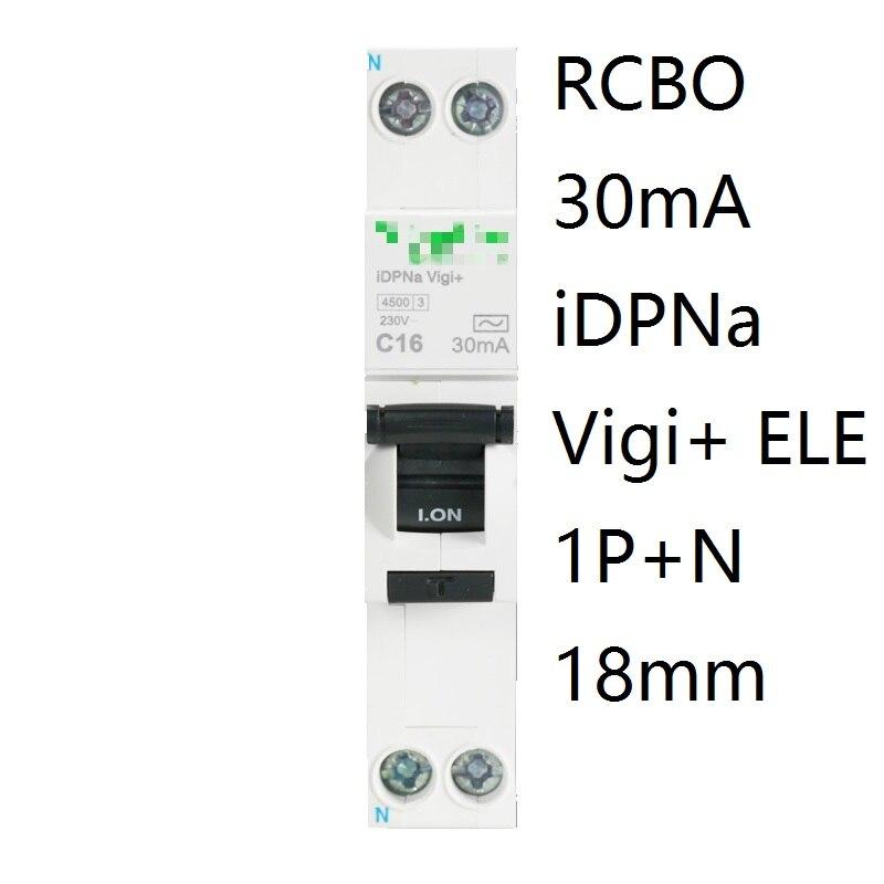 iDPNa Vigi+ DPNL Acti 9 RCBO 6A 32A 25A 20A 16A 10A 18mm 230V 30MA Residual current Circuit breaker Leakage protection MCB chnt dz47le 2p 10a 16a 20a 25a 32a 40a 50a 60a residual current circuit breaker rcbo