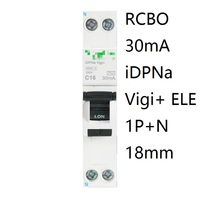 iDPNa Vigi+ DPNL Acti 9 RCBO 6A 32A 25A 20A 16A 10A 18mm 230V 30MA Residual current Circuit breaker Leakage protection MCB