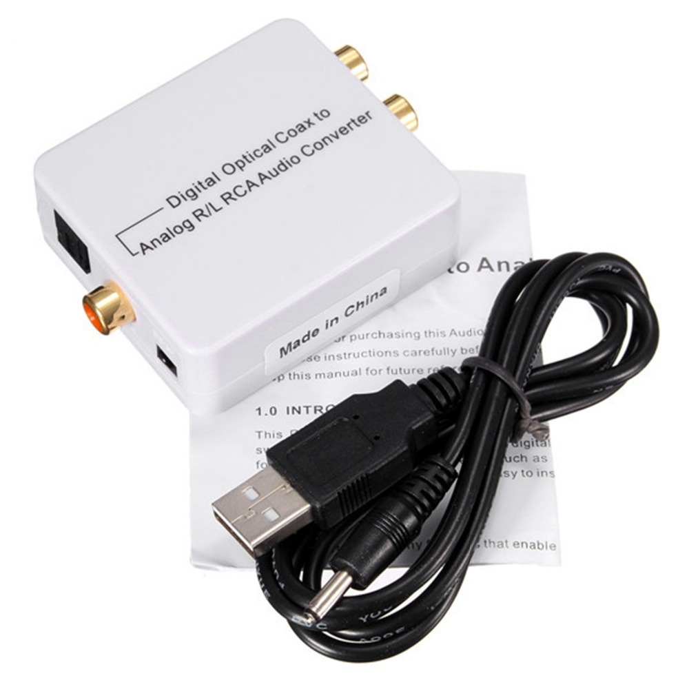 Digital to Analog Audio Converter Adapter HIFI optical Coaxial Toslink to  Analog L/R RCA audio convertor+usb 5V DC Power Cable-in Audio & Video Cables  from ...